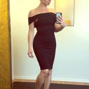 Off the shoulder back dress